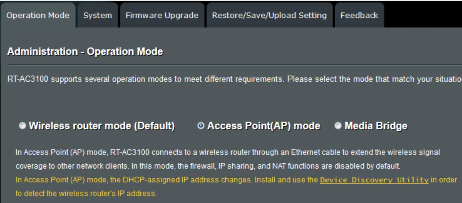 ASUS router admin login GUI