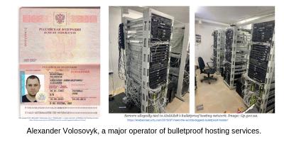 "Alexander Volosovyk, a.k.a. ""Yalishanda,"" a major operator of bulletproof hosting services."