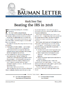 Cover page of the Bauman Letter with Brad Deflin on cybersecurity and privacy.