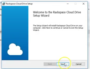 Cloud Drive desktop install scrshot