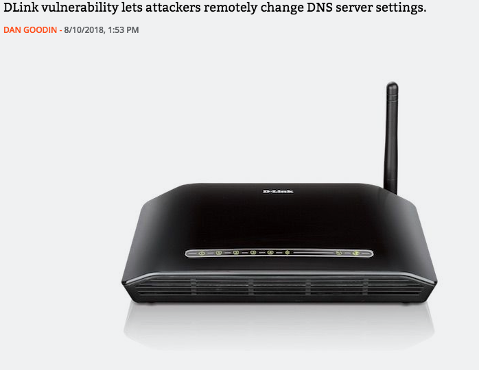 DLink Router threat