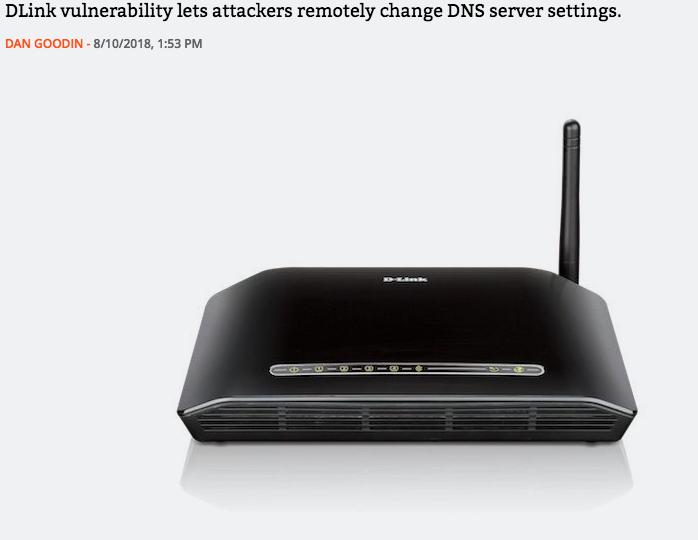 DLink Router threat