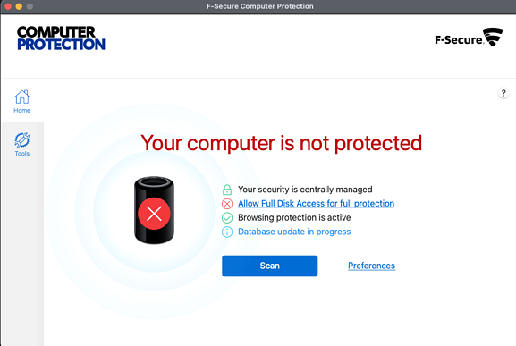 F-Secure Computer Protection installation screenshotsScreen Shot 2021-06-12 at 2.22.14 PM