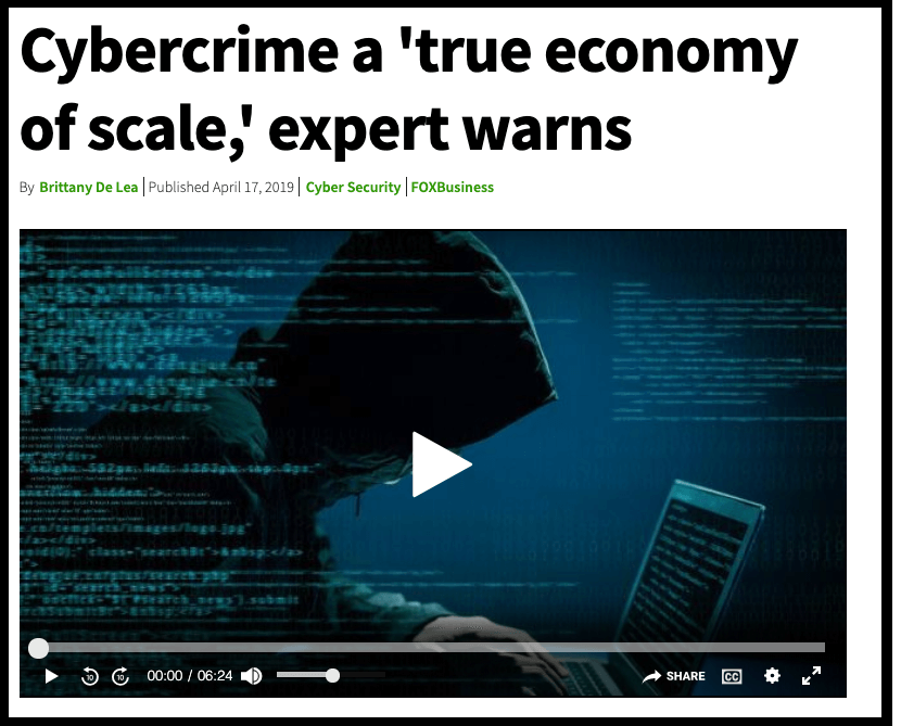 Fox News on cybercrime sclabaility