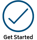 Get Started icon chk
