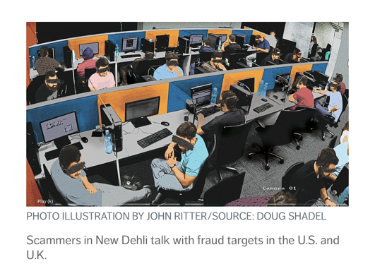 photo illustration by John Ritter - scammers in New Delhi targeting the U.S.