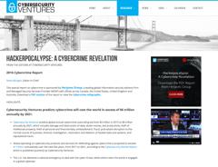 Cybersecurity venture hackerpocalypse