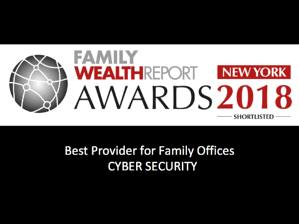 Family Wealth Awards for cybersecurity 2018 Total Digital Security.