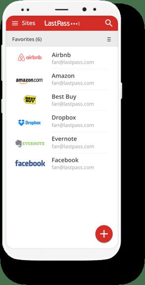 LastPass on mobile screenshot