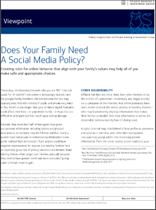 ML PBIG Family Social Media Policy