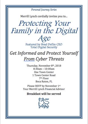 Merrill Lynch Boca Raton Cybersecurity Event Nov2018