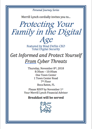 Merrill Lynch Boca Raton Cybersecurity Event Nov2018