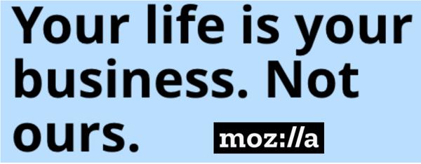 Mozilla logo and statement