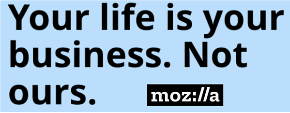 Mozilla logo and statement