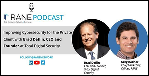 screenshot of the RANE website with Brad Deflin on cybersecurity for family offices