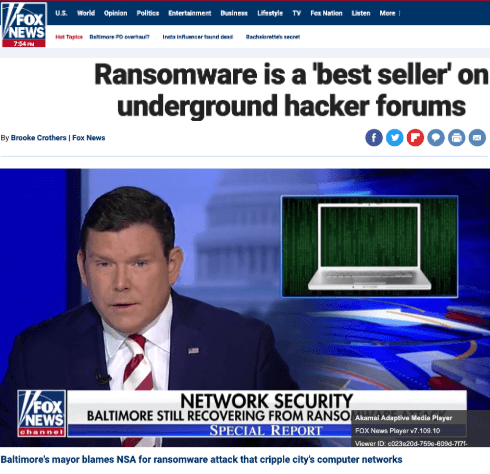 Ransomware FOX news screenshot