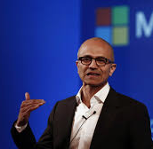 photo of Microsoft CEO speaking