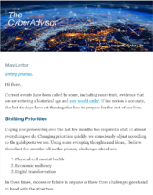 screenshot of a cybersecurity newsletter The CyberAdvisor