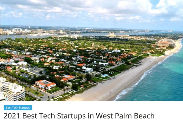 Best Tech Startups in West Palm Beach - an aerial photo of the Palm Beach shoreline