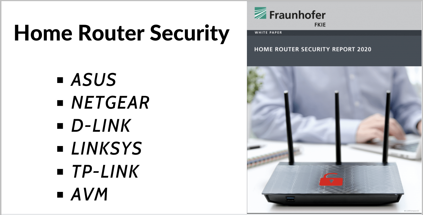 white paper report on Home Router Security and home network cybersecurity