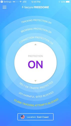VPN-iOS-Inx-Freedome-is ON
