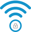 TDS brand icon - WiFi and VPN network security lock