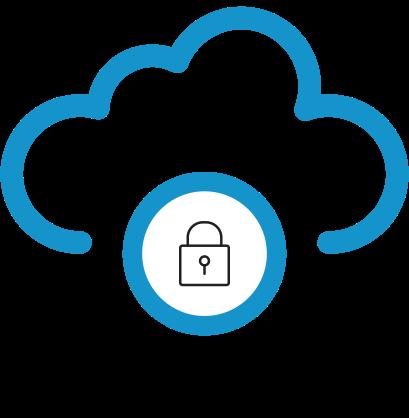 TDS brand icon- cloud lock