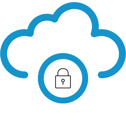 TDS brand icon- cloud lock
