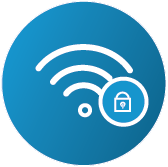 VPN digital security product icon to buy online