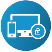 Device protection digital security icon to buy