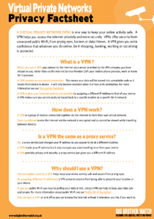 VPN Fact Sheet #1