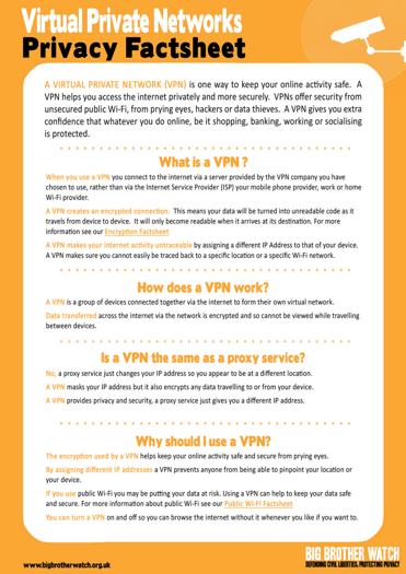 VPN Fact Sheet #1