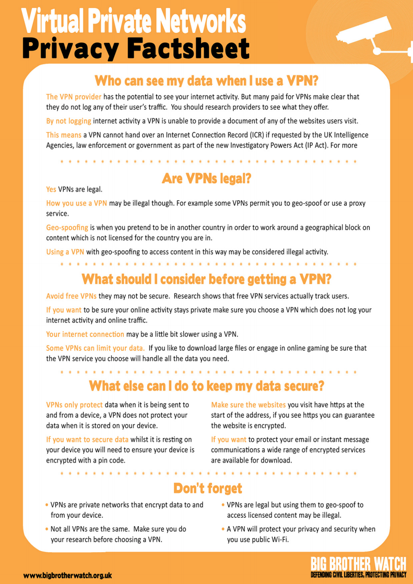 VPN Fact Sheet#2