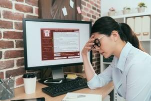 desktop locked ransomware woman copy