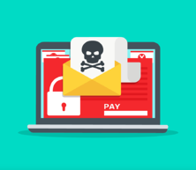 email hack graphic skull bones pay