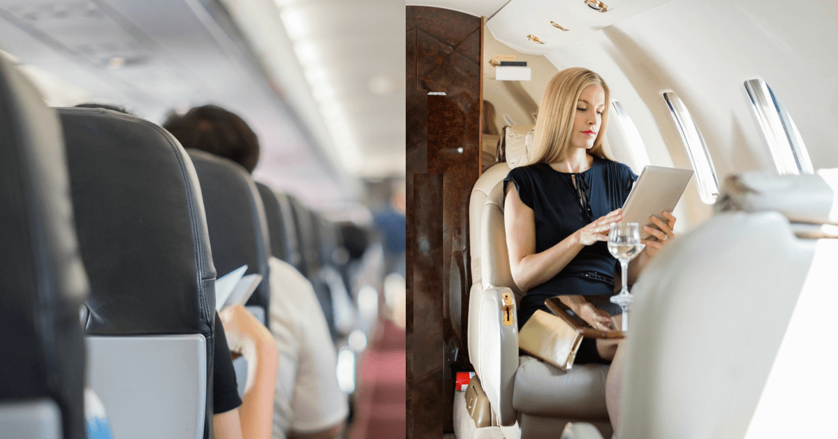 fly coach or go private