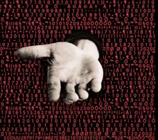 ransomware hand