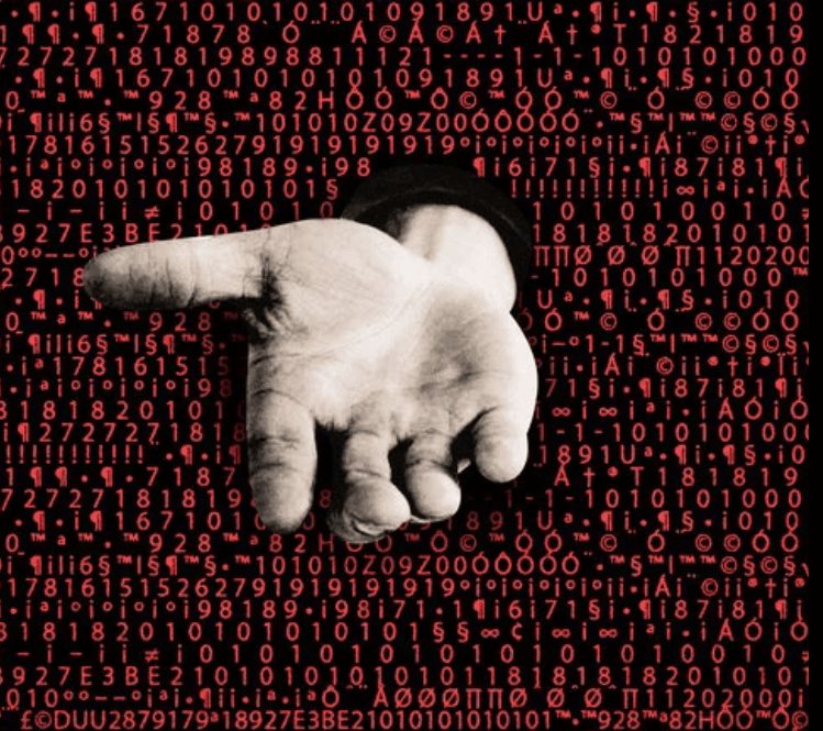 ransomware hand