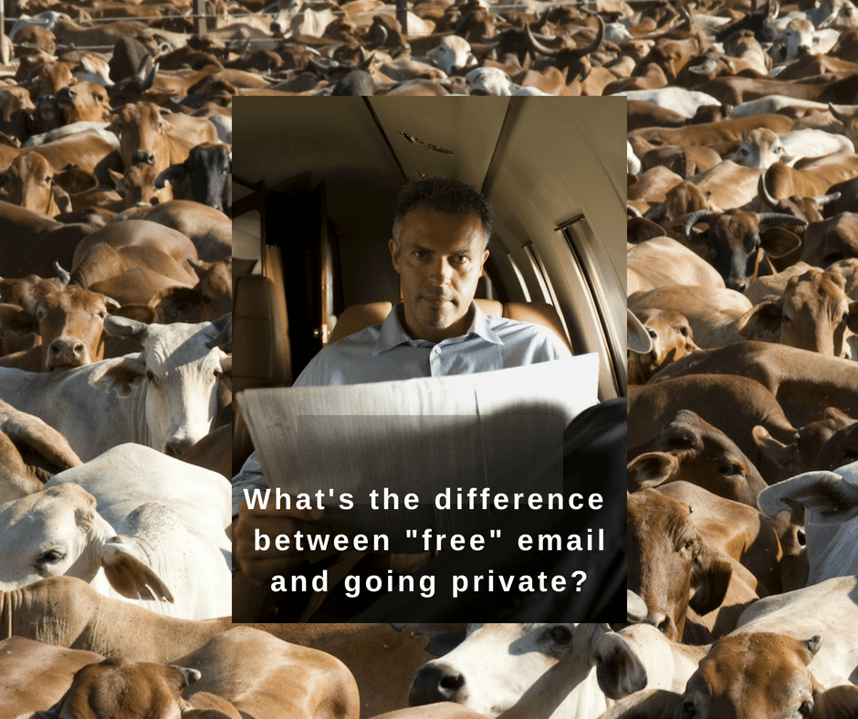 What's the difference between _free_ email and going private_-1