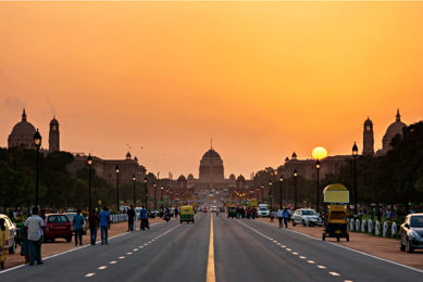 sunset in India looking west