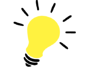 yellow ligh bulb idea graphic
