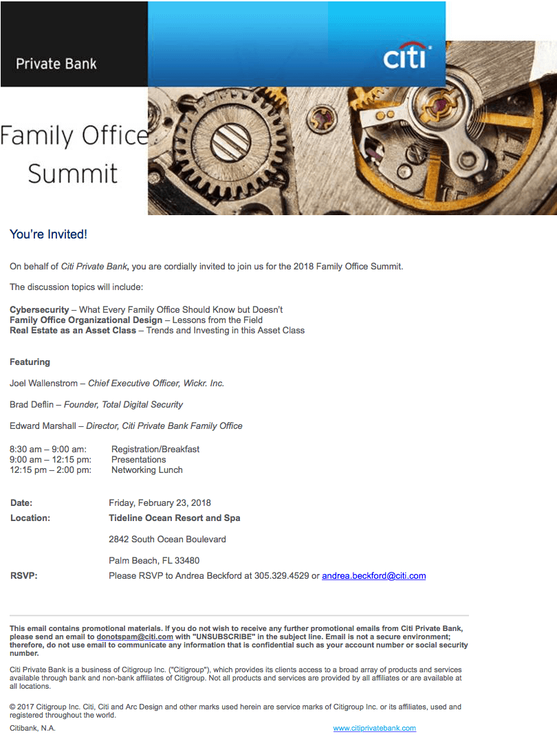 Family Office Summit - Citi Private Bank