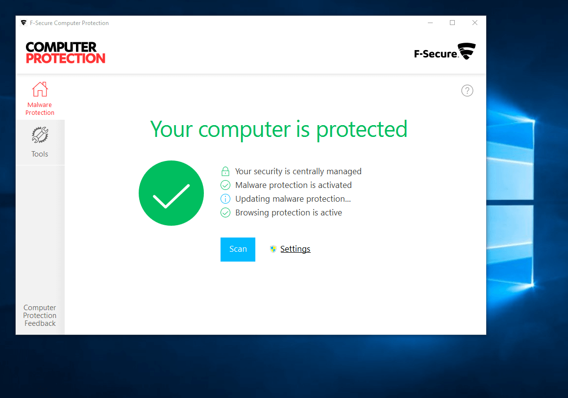 Upgrade to Computer Protection from F-Secure