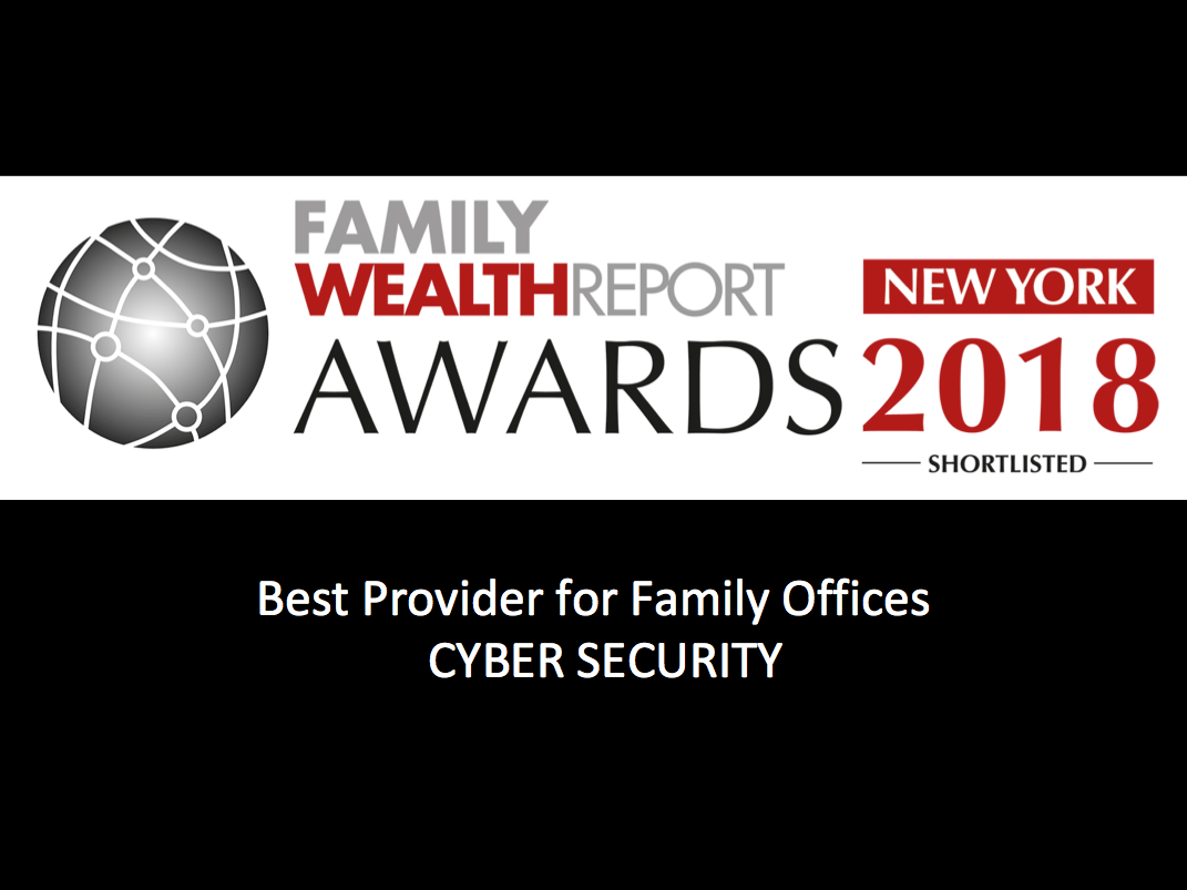 Family Wealth Wards 2018 best cybersecurity provider family offices