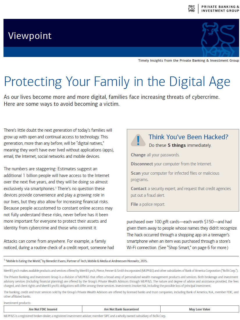 Protecting Your Family from Cybercrime - White Papers