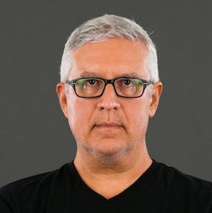 ethnic man portrait glasses black tshirt