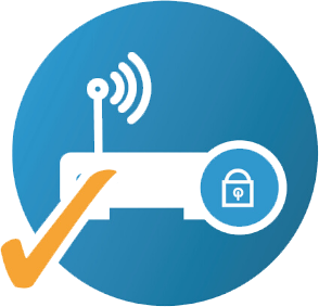 icon logo for managed network security service