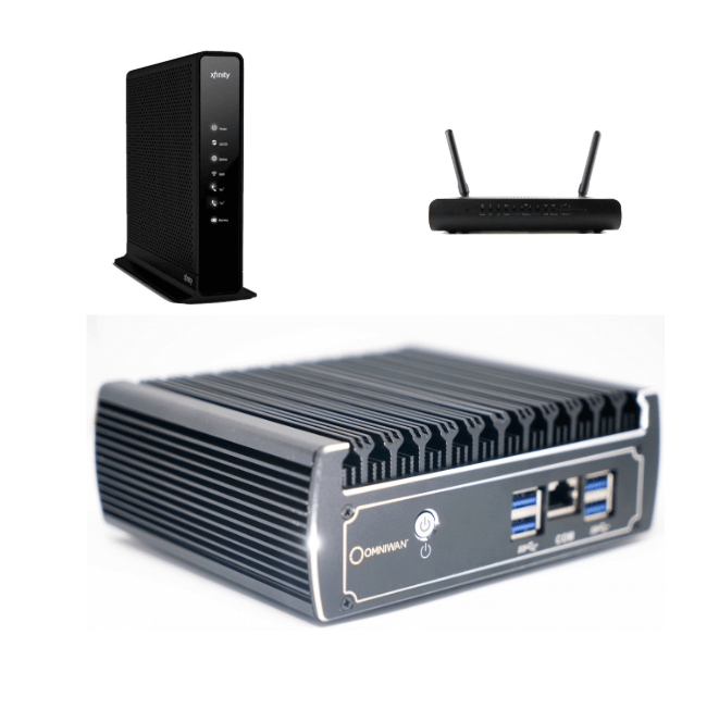 MNS Product sq Managed Network Security cable modem and wifi router